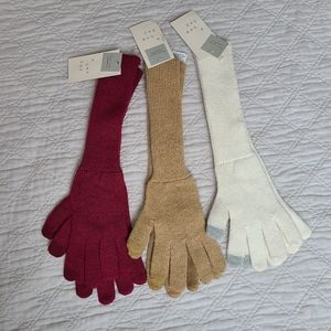 A New Day Women's Long Knit Gloves Lot of 3 Pairs